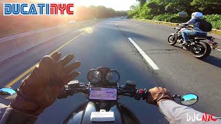 A Convo At Speed: Splitting And Politicin With Mono Noir - Yamaha + Ducati Ride To Nyack V1296