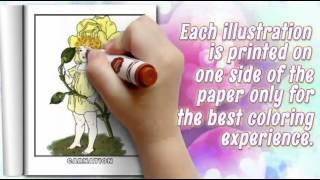 Floral Fairy Coloring Pages Of Flowers - Flower Coloring Pages - Flower Coloring Book - Volume 1