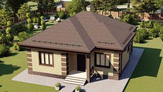 Проект дома 079-A, Площадь дома: 79 м2, Размер дома:  10,4x11,1 м