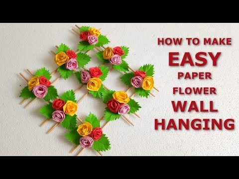Diy paper flowers wall hangings wall decoration ideas how to make diy paper flowers wall hangings wall decoration ideas how to make easy paper flower wall hanging mightylinksfo