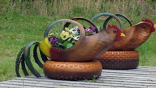 Flower Tire Planter Ideas For Your Yard