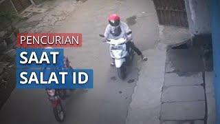Baru Pulang Salat Ied Motornya Raib, Cek CCTV Ternyata Digasak 2 Bandit