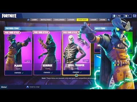 The New PLAGUE SKINS Gameplay in Fortnite..