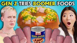 Would You Eat Meat Jello?! Gen Z Tries Boomer Foods | People Vs. Food