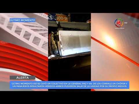 Video: Chofer pierde el control del colectivo y cae por el puente