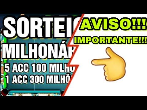 SORTEIO DE 6 CONTAS MILIONÁRIAS|8 BALL POOL 2020