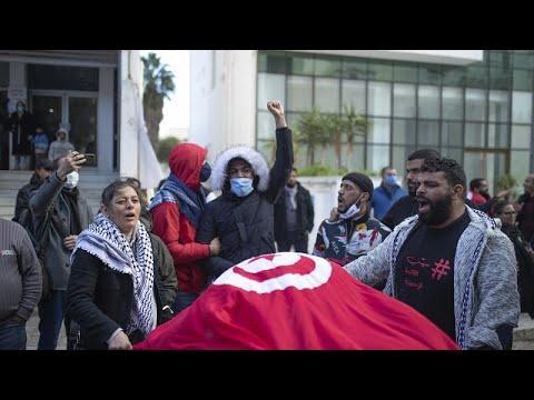 Tunisie : des heurts entre policiers et manifestants Tunisie : des heurts entre policiers et manifestants