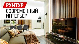 Готовый интерьер двухкомнатной квартиры в ЖК Леонтьевский мыс - 69 кв.м. Обзор дизайна интерьера.