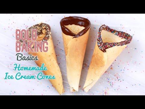 How to Make Homemade Ice Cream Cones – Gemma's Bold Baking Basics Ep 5