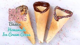 How To Make Homemade Ice Cream Cones - Gemmas Bold Baking Basics Ep  5