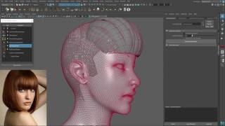 Ornatrix Maya: Hair guides sculpting time-lapse - Самые