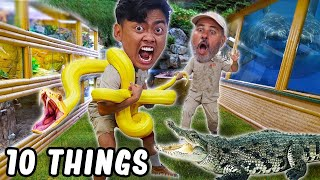 10 Things Not To Do at the Reptile Zoo.. (ft. @JayPrehistoricPets)