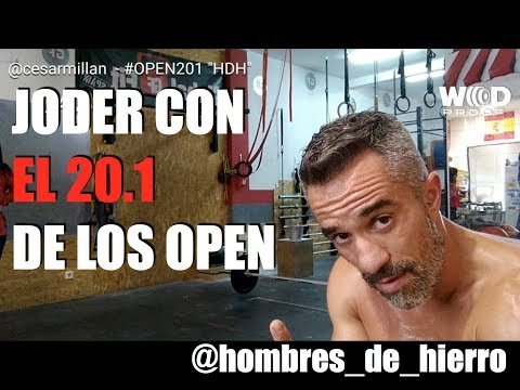 """WOD """"OPEN 20.1""""… César Millán """"Hombres de Hierro"""", categoría SCALED"""