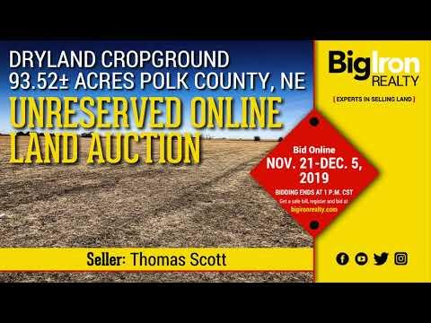 Land Auction 93.52+/- Acres Polk County, Nebraska