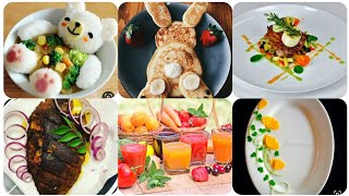 Beautiful Food Garnishing Ideas,🍴🍹#food Plating#food Art||Mr.& Mrs. Chef Channel|