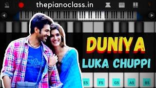 Duniya Piano Tutorial | Luka Chuppi |Akhil, Dhvani Bhanushali|Mobile Piano Tutorial By ThePianoClass