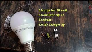 Download Video hidupin lampu 220 volt 10 watt pakai batrai 3volt MP3 3GP MP4
