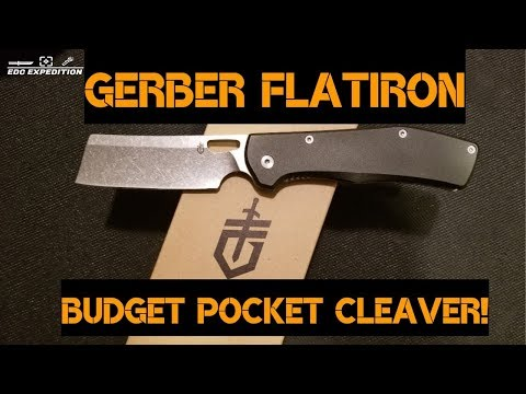 Gerber Flatiron Review || EDC Pocket Cleaver