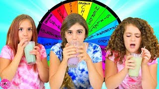 MYSTERY WHEEL OF MILKSHAKES CHALLENGE!!!