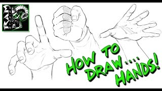 How To Draw Hands - Using Reference Photos -  Narrated By Robert Marzullo