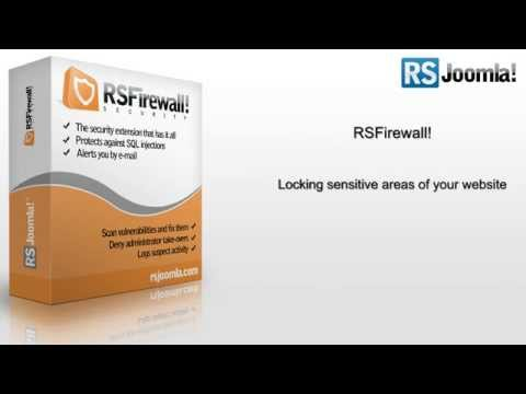 Ep.14 - Lock sensitive areas of your Joomla! website with RSFirewall!