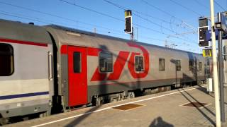 preview picture of video 'Espresso RZD Nizza-Mosca 13018 @Wien Meidling'