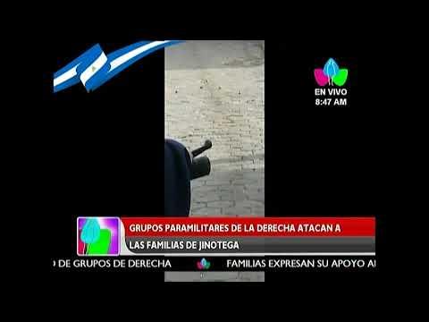 Grupos paramilitares de la derecha atacan a la Policía Nacional en Jinotega