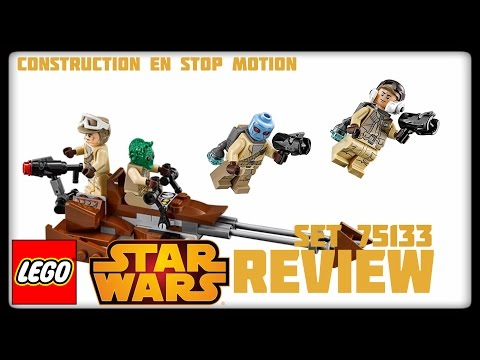 Vidéo LEGO Star Wars 75133 : Pack de combat de l'Alliance Rebelle