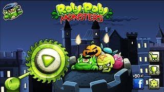 МОНСТРЫ игра в стиле ЭНГРИ БЕРДС   ROLY POLY MONSTERS game kids