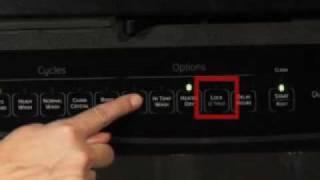 Dishwasher Controls - Lock and Unlock
