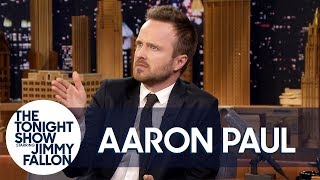 Aaron Paul details his multiple run-ins with Rihanna, including the time she singled him out to serenade during a Super Bowl party performance.  Subscribe NOW to The Tonight Show Starring Jimmy Fallon: http://bit.ly/1nwT1aN  Watch The Tonight Show Starring Jimmy Fallon Weeknights 11:35/10:35c Get more Jimmy Fallon:  Follow Jimmy: http://Twitter.com/JimmyFallon Like Jimmy: https://Facebook.com/JimmyFallon  Get more The Tonight Show Starring Jimmy Fallon:  Follow The Tonight Show: http://Twitter.com/FallonTonight Like The Tonight Show: https://Facebook.com/FallonTonight The Tonight Show Tumblr: http://fallontonight.tumblr.com/  Get more NBC:  NBC YouTube: http://bit.ly/1dM1qBH Like NBC: http://Facebook.com/NBC Follow NBC: http://Twitter.com/NBC NBC Tumblr: http://nbctv.tumblr.com/ NBC Google+: https://plus.google.com/+NBC/posts  The Tonight Show Starring Jimmy Fallon features hilarious highlights from the show including: comedy sketches, music parodies, celebrity interviews, ridiculous games, and, of course, Jimmy's Thank You Notes and hashtags! You'll also find behind the scenes videos and other great web exclusives.  Rihanna Chased Down Aaron Paul in a Parking Lot http://www.youtube.com/fallontonight