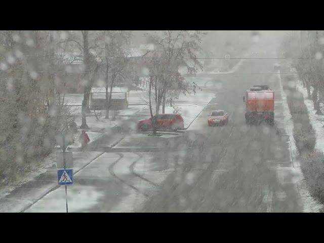 В Ангарск вернулась зима