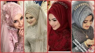 Top 80+ Gourgious & Beautiful Bridal Arabic Hijab Style Designs Collections 2019/2020