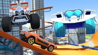 HOT WHEELS DAILY RACE OFF GAME / HOT WHEELS TRACK BUILDER GARAGE/ HOT WHEELS STUNT CARS SUPERCHARGED