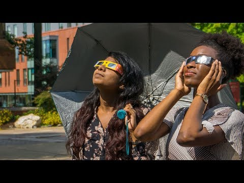 The Mason Nation gathered outside to witness the Great American Eclipse.