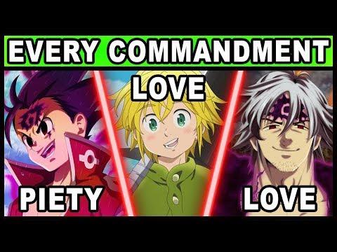 Every Character's Commandment Explained! (Seven Deadly Sins / Nanatsu no Taizai)
