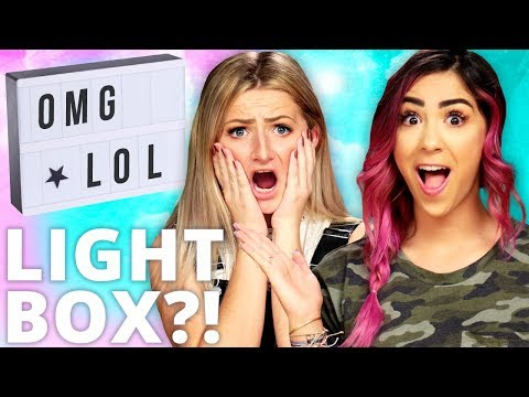 DIY LIGHT BOX?! Di Dare w/ Cassie Diamond & Kalista Elaine