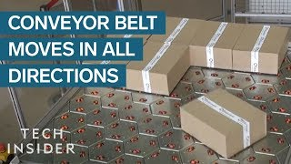 Conveyor Belt Can Move Packages In Any Direction