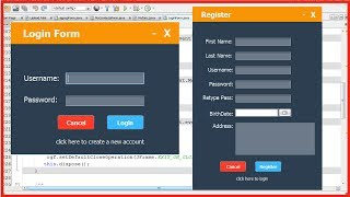 JAVA - How To Design Login And Register Form In Java Netbeans