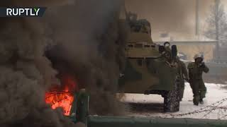 Combat engineers put assault suit to test in Russia