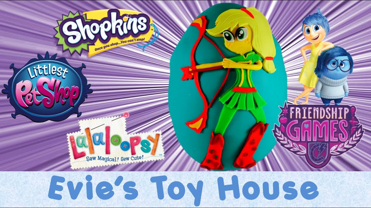 My Little Pony FRIENDSHIP GAMES Movie Surprise Play-doh Egg with MLP Applejack