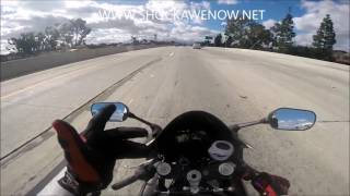 How to ride a motorcycle on the Highway Gopro HD