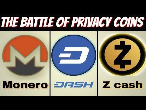Monero vs Zcash vs Dash (Privacy Coins)