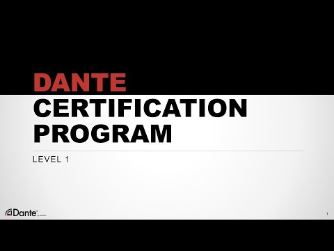Dante Certification Level 1: Introduction - YouTube