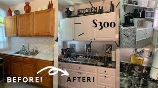$300 ULTIMATE SMALL KITCHEN DIY MAKEOVER / BUDGET FRIENDLY // HOME IMPROVEMENT / SHYVONNE MELANIE TV