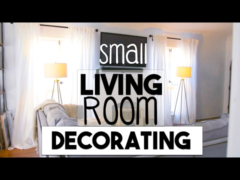INTERIOR DESIGN: Small Space Decorating! | Making the Most of Our Small LIVING ROOM!