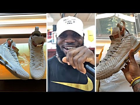 LeBron James Unboxing New Nike LeBron 16 Shoes & Surprises A Whole High School With Them