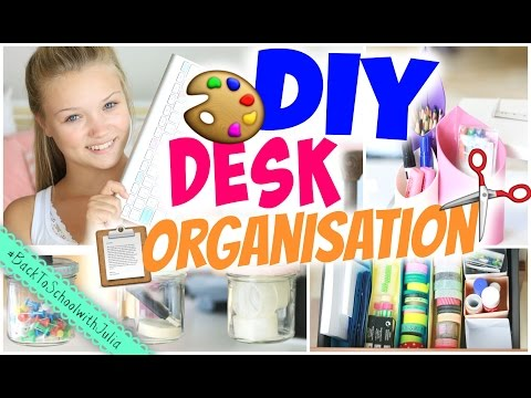 8 EASY DESK ORGANISATION DIYs! | Julia Beautx