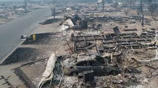Ужасающие последствия пожаров в Калифорнии