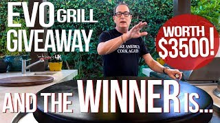 THE WINNER OF THE $3500 EVO GRILL IS.... | SAM THE COOKING GUY